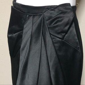 Vintage Black Bow Pencil Skirt